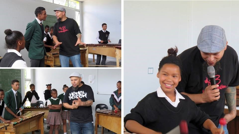 Rehearsal in Grabouw with Rap Artist, Simon Witbooi